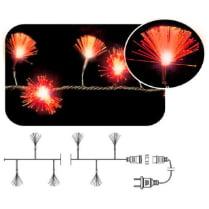 LED гирлянда «Кисточки» фиброоптическая красная 100LED