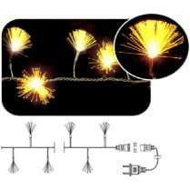 LED гирлянда «Кисточки» фиброоптическая желтая 100LED