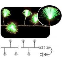LED гирлянда «Кисточки» фиброоптическая зелёная мерцающая 100LED