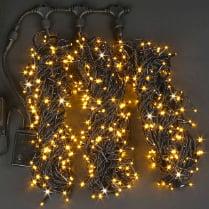 Светодиодная гирлянда Rich LED 3 нити по 20 м с контр., желтая