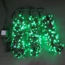 Светодиодная гирлянда Rich LED 3 нити по 20 м с контр., зелёная
