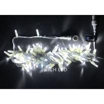 Светодиодная гирлянда Нить 10 м, тёплый белый (белый провод)
