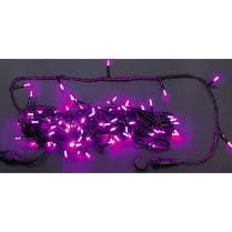 Светодиодная гирлянда Нить 20 М, 220В, розовая, постоянного свечения