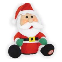 Поющий Санта румяный 20 см