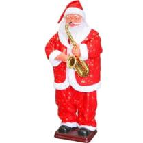 Танцующий музыкальный Санта Клаус с саксофоном