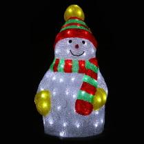 Объемная световая фигура «Снеговик спортсмен» 50 см.