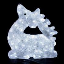 Объемная световая фигура «Олень белый благородный» 49 см