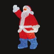 Объемная световая фигура «Санта Клаус» 210 см