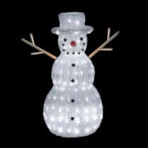 Объемная световая фигура «Снеговик» h06