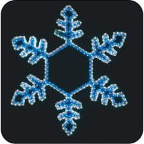 LED-фигура «Снежинка сине-белая, большая» с контроллером