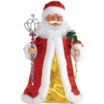 Поющий Дед Мороз в красно-золотом наряде