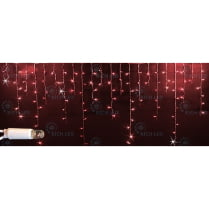 Светодиодная мерцающая бахрома красная с герметичным колпачком Rich LED 3х0,5м