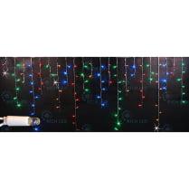 Светодиодная мерцающая бахрома мульти с герметичным колпачком Rich LED 3х0,5м