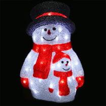 3D-LED Фигура «Снеговик со снеговичком», 40 см