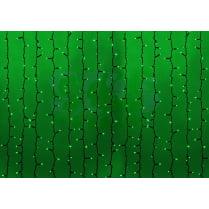 Светодиодный занавес RICH LED с мерцанием 600LED 2x3м зелёный