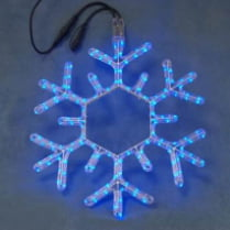 Светодиодная фигура «Снежинка голубая»