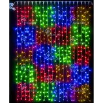 Светодиодный занавес RICH LED в клетку 2х3 м мультицвет