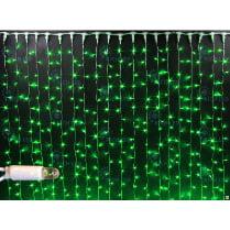 Светодиодный занавес с герметичным колпачком Rich LED 2х1.5м зелёный