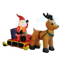 Надувная фигура «Санта на санях»