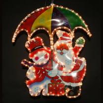 Фигура «Дед Мороз с зонтиком и Снеговик»