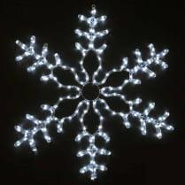 LED-фигура «Снежинка белая с контроллером»