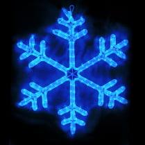 LED-фигура «Снежинка синяя» с контроллером