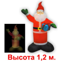 Фигура «Санта с блестящим подарком»