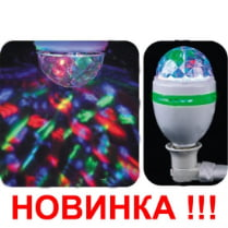 Настенный диско шар 3 светодиода