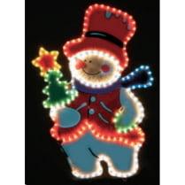 Led фигура «Снеговик с елкой»