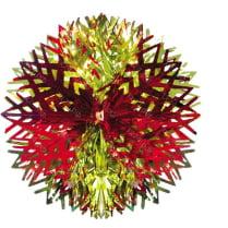 Подвеска из фольги «Красно-золотой шар»