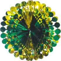 Подвеска из фольги «Зелёно-золотой шар»