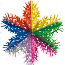 «Ажурная снежинка», диаметр 35 см