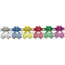 Подвеска-растяжка из фольги «Снежинки»