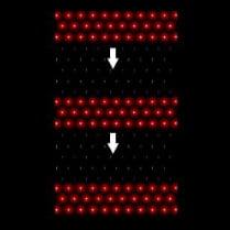 LED-сетка «Водопад» - 240 красных светодиодов, 1х2м