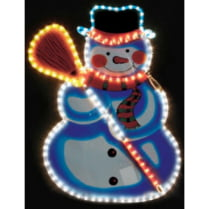 Led фигура «Снеговик с метлой»