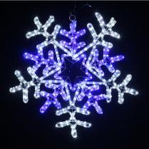 Фигура «Снежинка сине-белая»