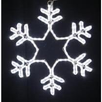 LED-фигура «Снежинка белая мерцающая»