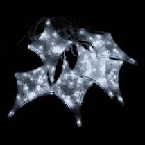 Светодиодная гирлянда Мерцающие звёзды белая 12 шт