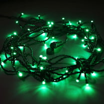 Светодиодная гирлянда 100LED зелёная мерцающая 10м