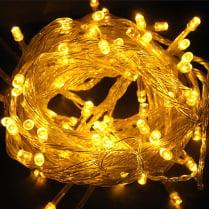 Светодиодная гирлянда 100LED желтая 10м