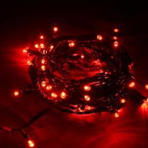 Светодиодная гирлянда 100LED красная 10м