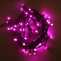 Светодиодная гирлянда 100LED розовая 10м