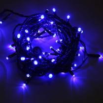 Светодиодная гирлянда 100LED синяя 10м