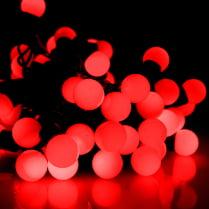 Светодиодная гирлянда «Мультишарики» красная d-18 мм