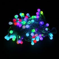 Светодиодная гирлянда «Шарики-Вишенки» d-10 мм RGB быстро мерцающая, 10м