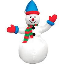 Надувная фигура «Снеговик в колпачке», 2,4 м.