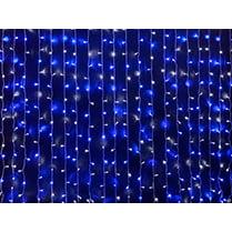 Светодиодный занавес 600LED 2x3м синий IP54