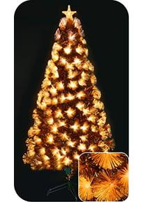 Ёлка светодиодная фиброоптическая «Золотая»
