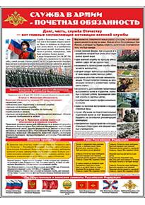 Стенд «Служба в армии - почетная обязанность»