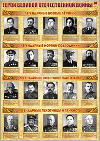 Стенд «Герои ВОВ»